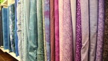 row of fabric