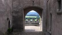 castle arches in Switzerland
