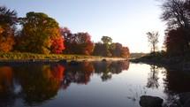 river's edge in fall