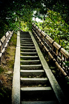 steep stairs on a nature trail