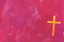 cross on pink