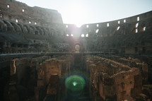interior of the Coliseum in Rome