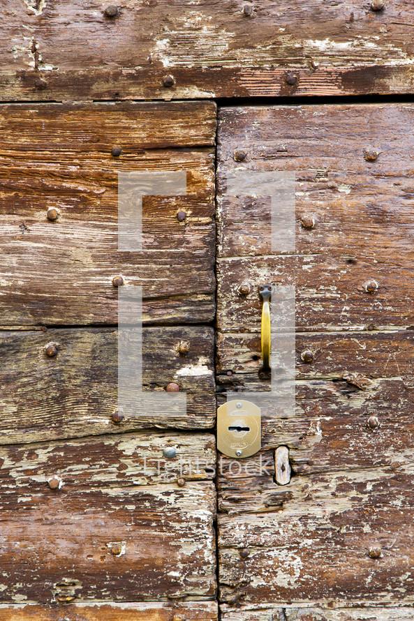 door pull on an old door