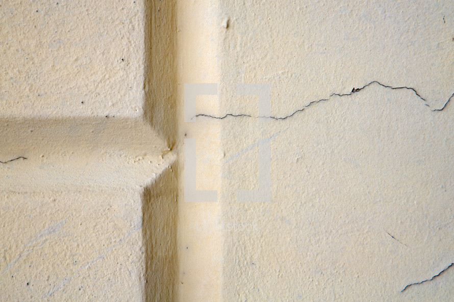 crack in plaster wall