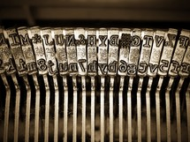 letter plates on a typewriter