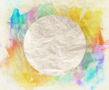 circle with paint splatter background