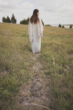 Mary Magdalene walking