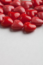 red heart shaped candy