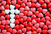 white, cross, red, heart, heart shaped, candy, Valentines day