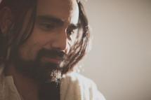 A reflective Christ -- Jesus pondering His destiny.