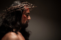 The suffering of Christ -- Jesus wearing His crown of thorns.