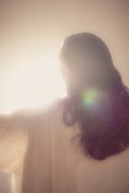 The resurrected Christ -- Jesus embracing the light.