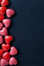 heart shaped candy border