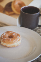 donuts and coffe