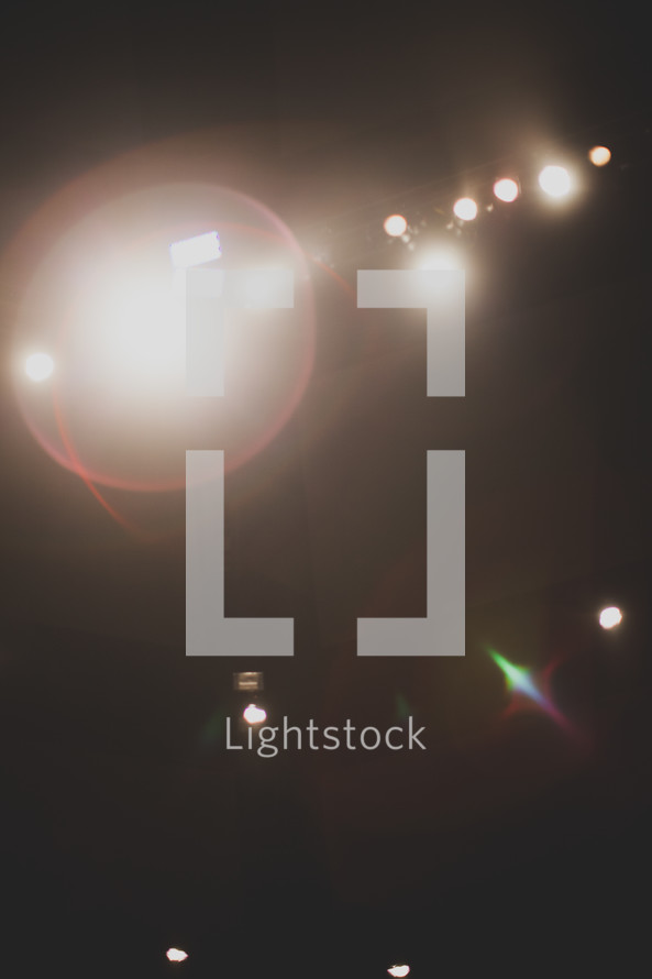 Stage lighting.