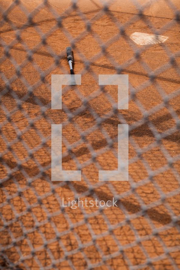 baseball bat and home plate