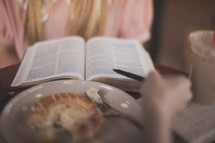 Bible study over breakfast.