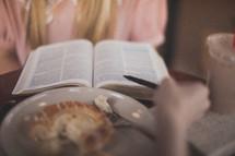 Bible study over breakfast.