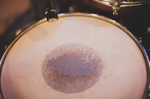 a drum and microphone