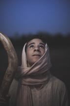 shepherd looking up to God