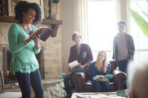 woman leading a Bible study