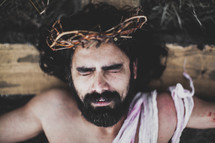 being nailed to the cross