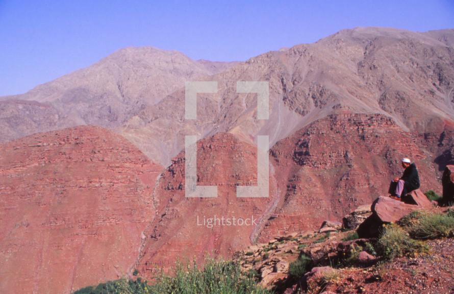 red rock desert mountains