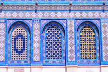 colorful arch windows on the Dome of the Rock
