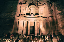 candlelight vigil at the Ancient Monastery in Petra