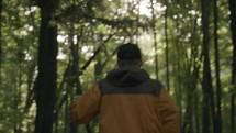 man on a nature walk