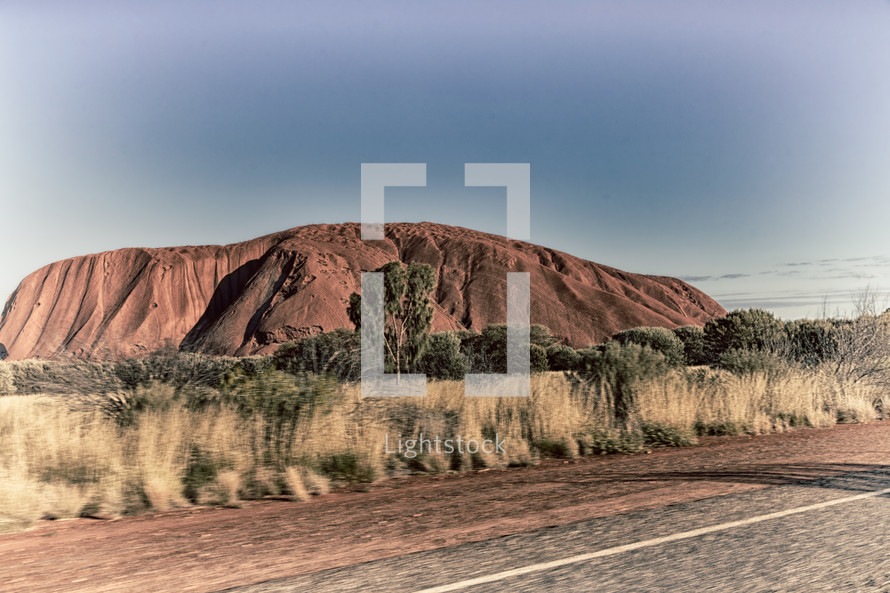 red rocks in the Australia outback