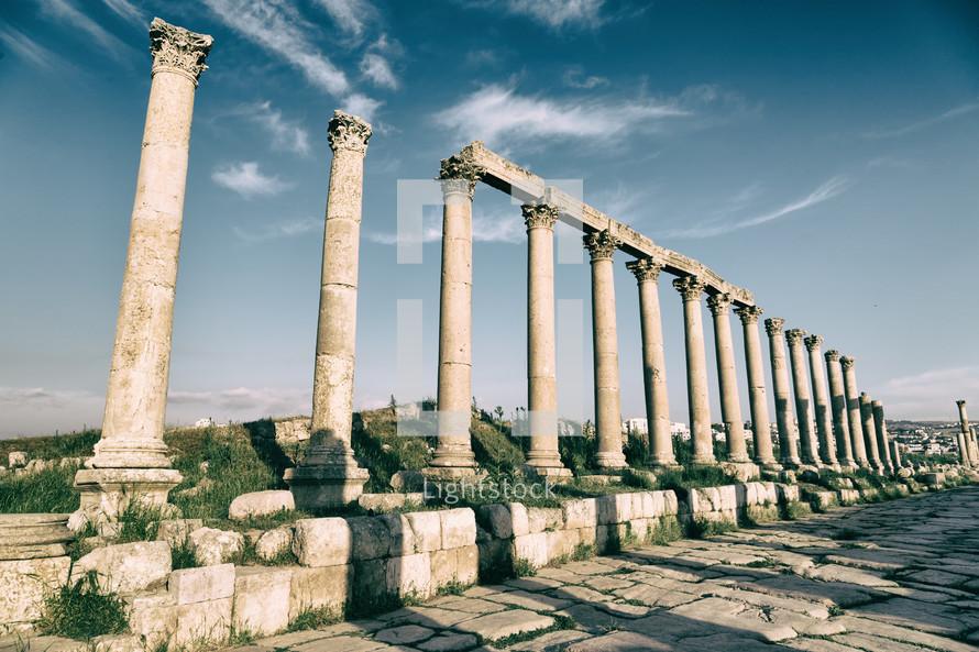 columns at ruins site