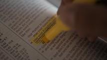 highlighting scripture