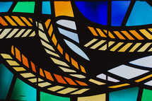 wheat stained glass window