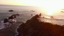 drone over a shore