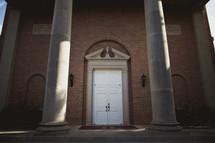 The exterior of a chapel