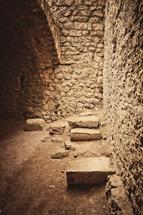 empty stone cellar
