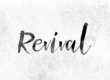 word revival in ink on white background
