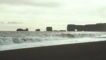 waves on an icy beach
