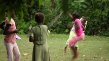 girls jump roping in Haiti