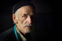 Elderly muslim man
