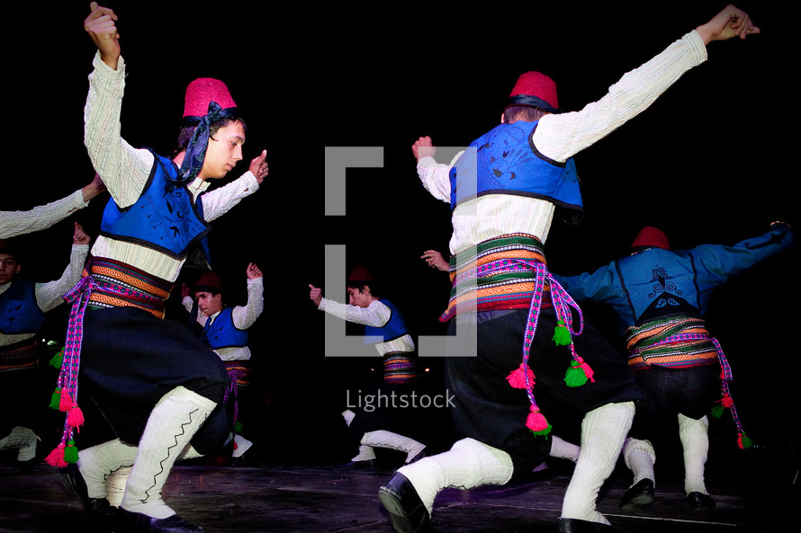 Turkish folk dancers