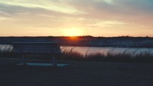 bench by a river at sunset (Full speed, 24fps)