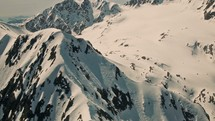 Alaska Mountains from a small Plane.