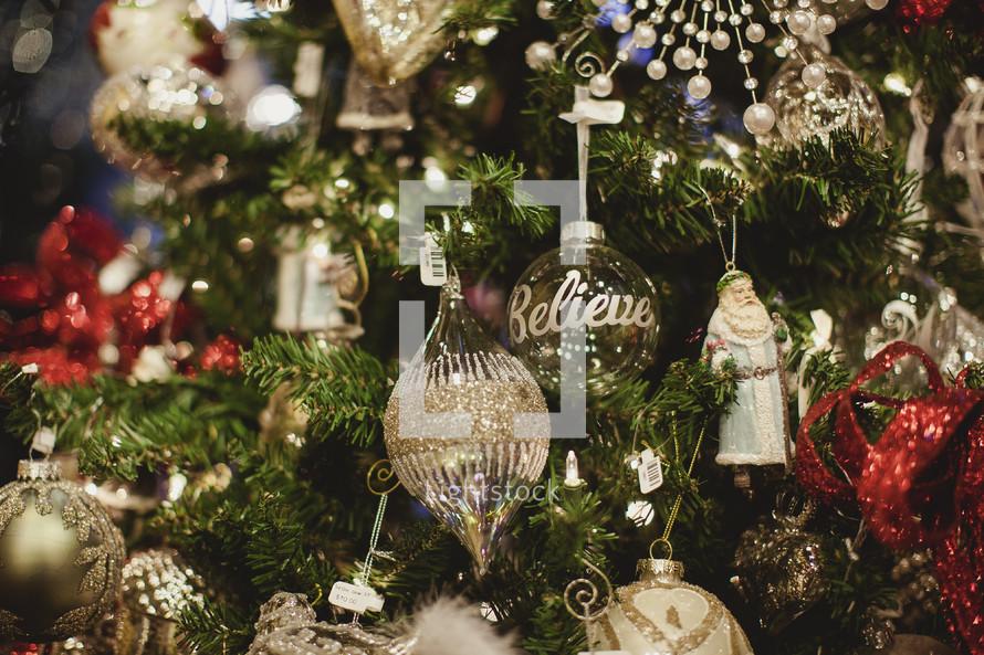 Religious ornaments on a christmas tree — Photo — Lightstock