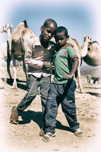 boys and camels