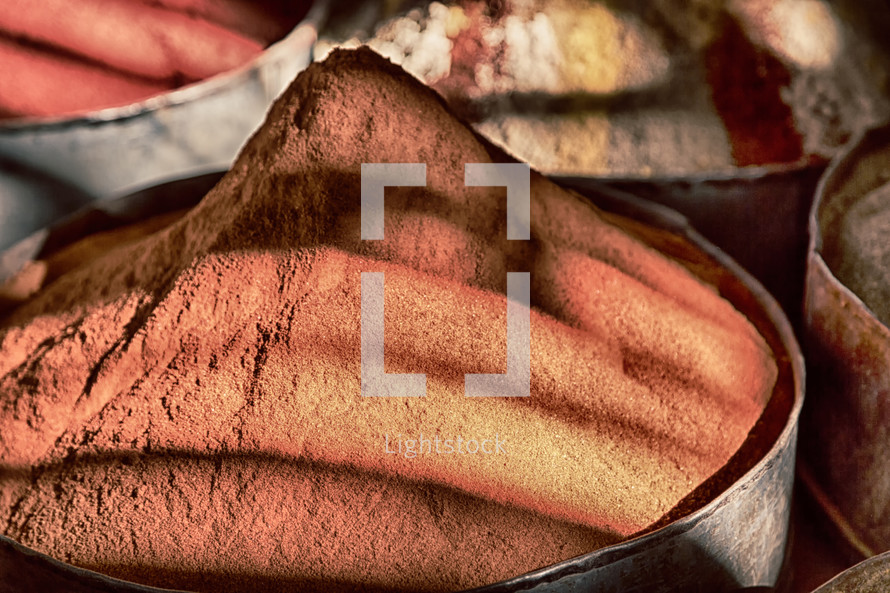 pails of spices