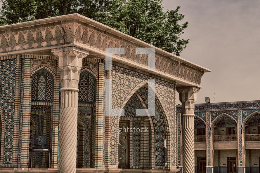 entrance to a mosque