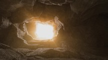 glowing empty tomb