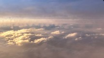 Above the clouds worship visual background